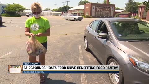 Food drive at the Elkhart County 4-H Fairgrounds