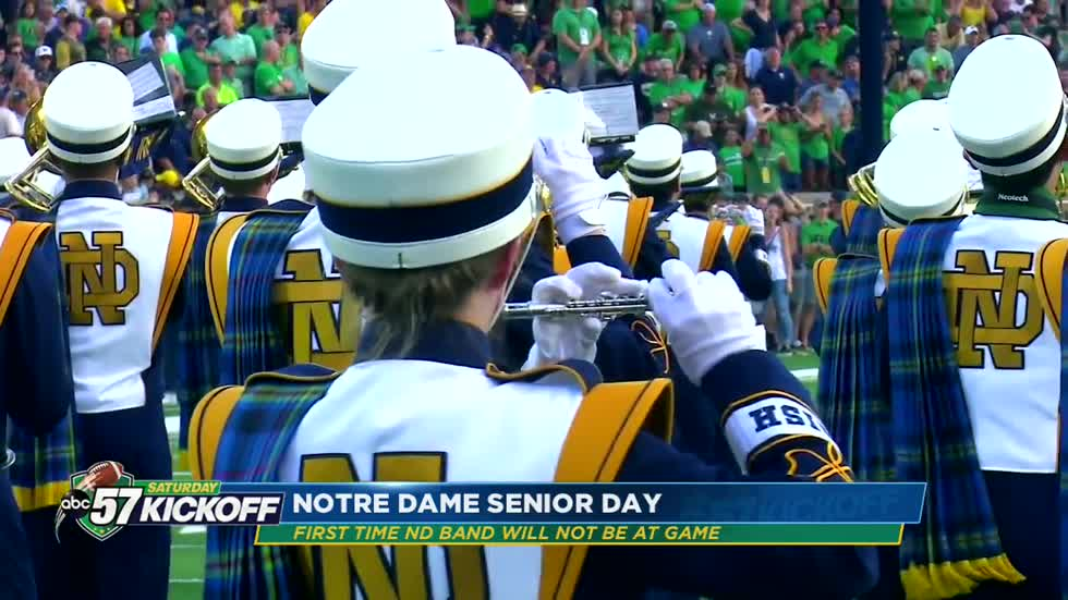 For the first time, the Notre Dame band will not attend a football...