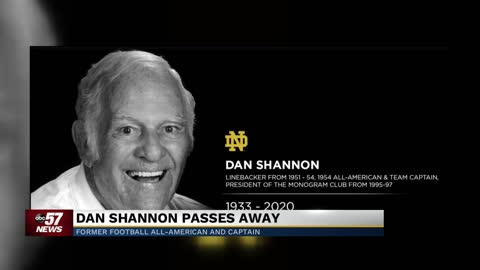 Former Notre Dame Football All-American Dan Shannon has passed...