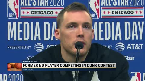 Former Notre Dame star competes in NBA All-Star Dunk Contest