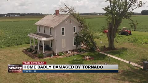 Fourth generation home damaged by Elkhart County tornado.