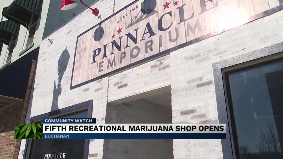 Fourth marijuana dispensary opens in Buchanan