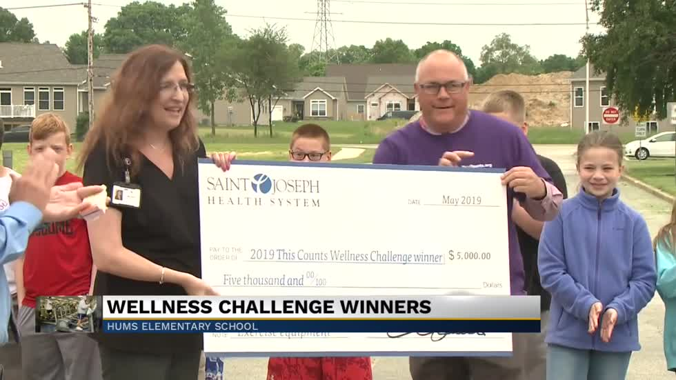 Fred J. Hums Elementary awarded $5,000 prize as part of a wellness challenge