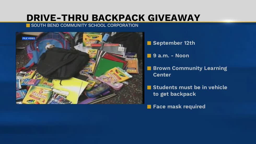Free backpack giveaway September 12