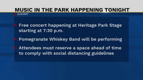 Free concert taking place at Heritage Park in Goshen