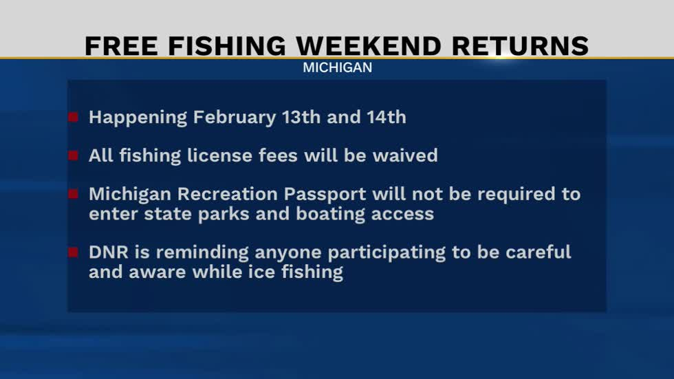 Free fishing next weekend in Michigan