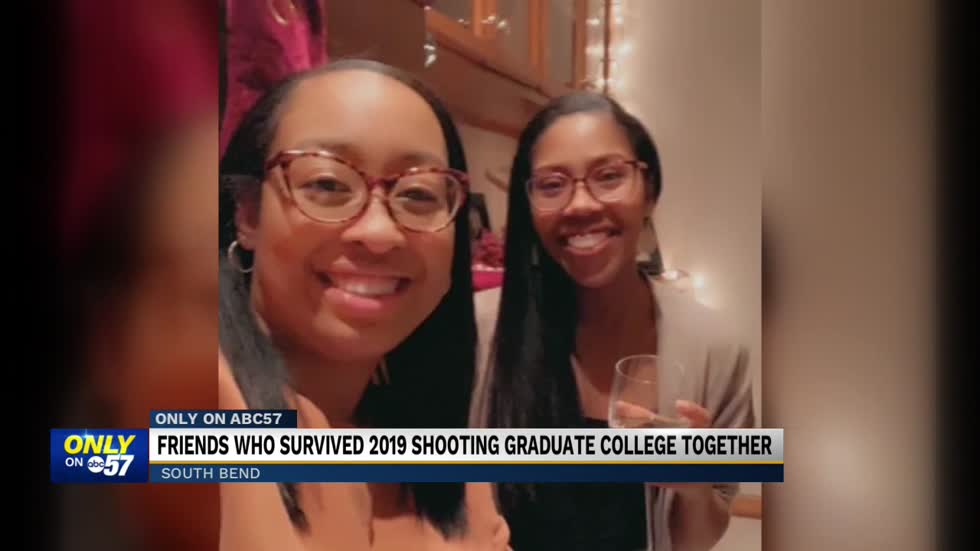 Friends who survived 2019 shooting graduate together
