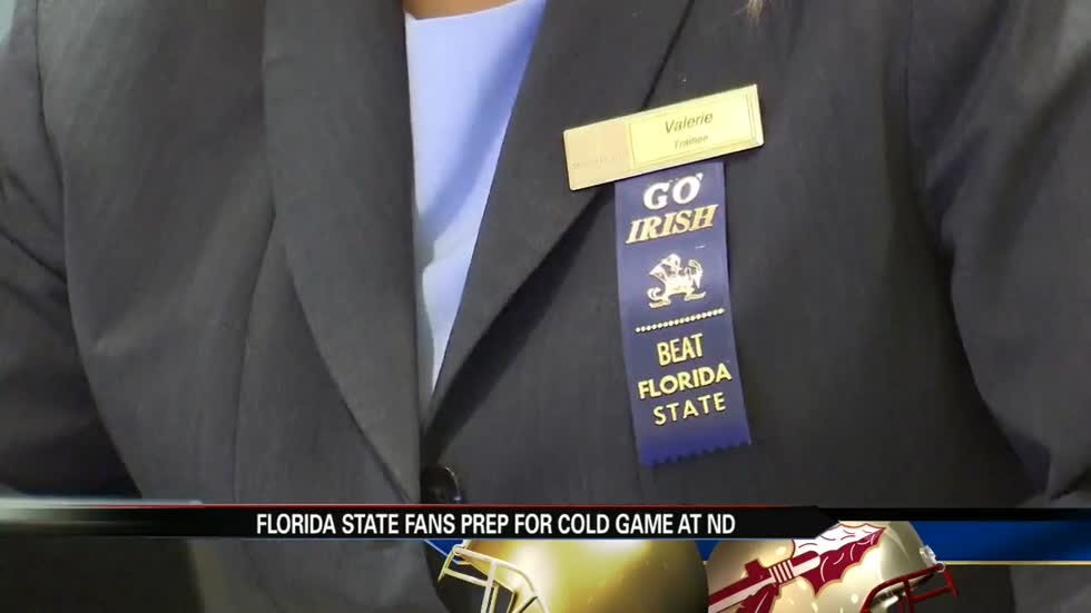 Florida State fans prep for cold game at Notre Dame