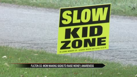 Fulton County mother selling signs to keep kids safe near roadways after Tuesday's deadly crash