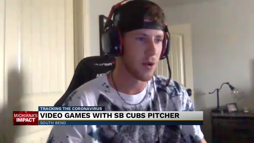 Get to know South Bend Cubs pitcher Kohl Franklin through video games