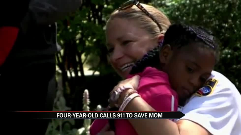 Four-year-old calls 911 to save mom