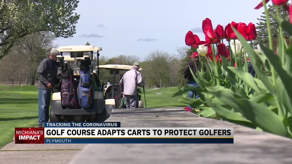 Golf course adapts carts to protect golfers