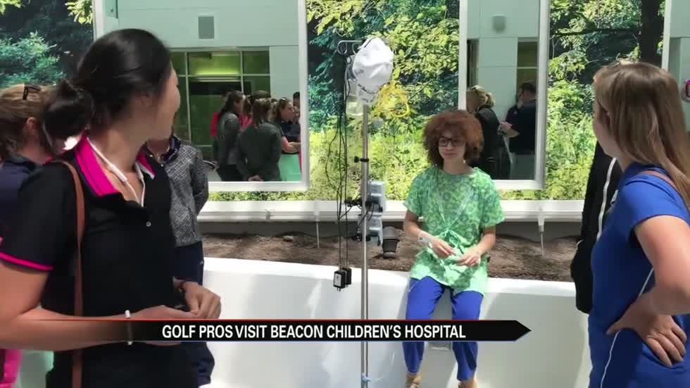 Four Winds Invitational: Players visit Beacon Children's Hospital