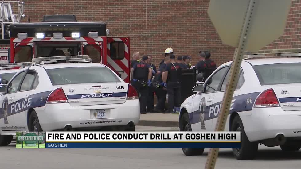 Goshen Fire and Police conduct active shooter drill at Goshen High School