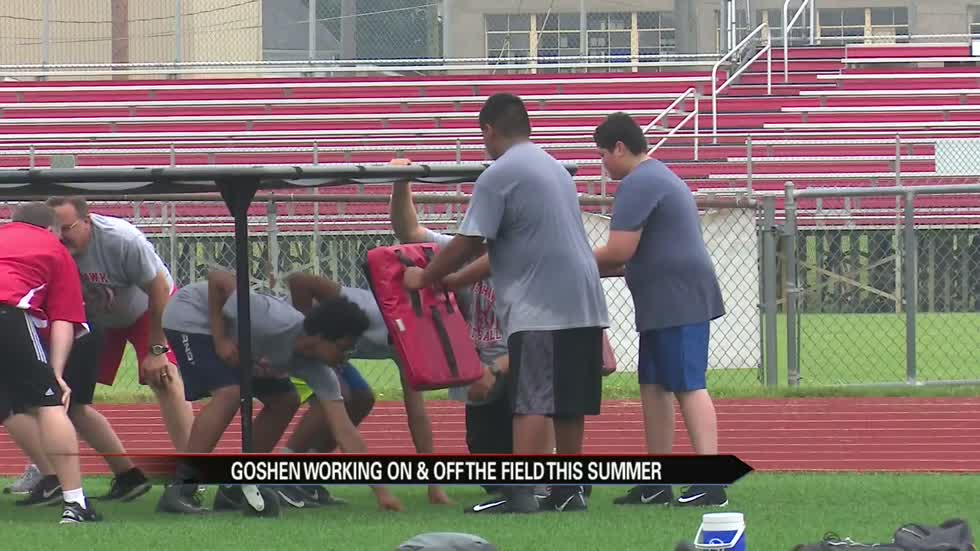 Goshen football putting in summer work on and off the field