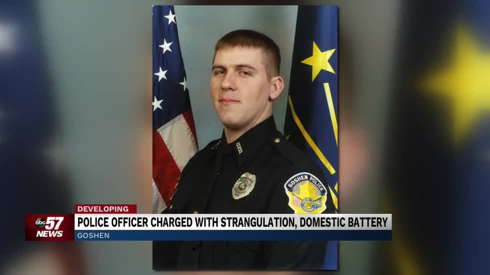 Goshen Police officer charged with strangulation, domestic battery