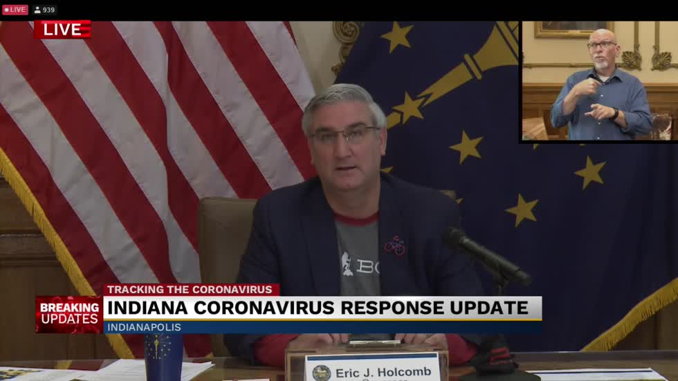 Gov. Holcomb provides update on state's response to COVID-19