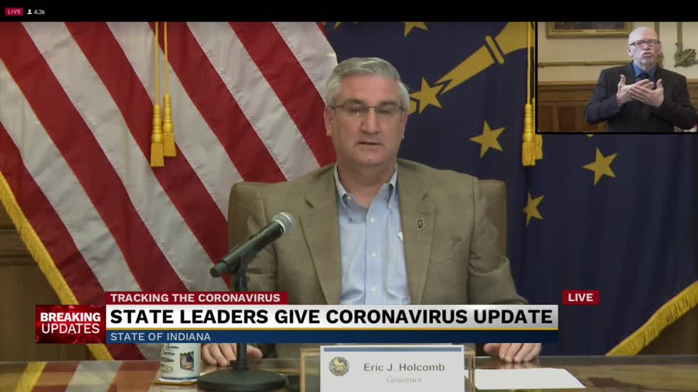Governor Holcomb provides update on COVID-19 response