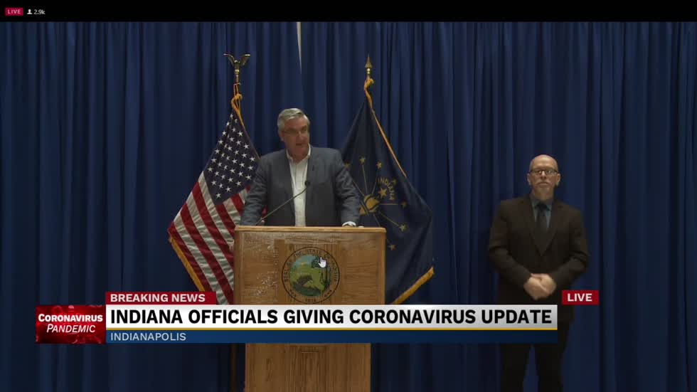 Governor Holcomb provides update to state's COVID-19 response