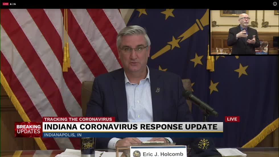 Governor Holcomb provides update on state's response to COVID-19