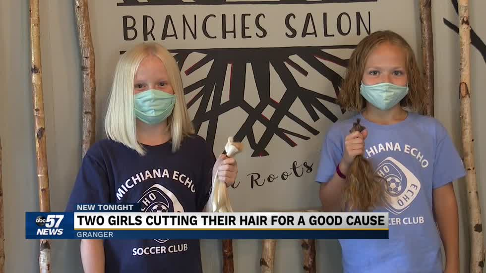 Granger girls donate hair to charity
