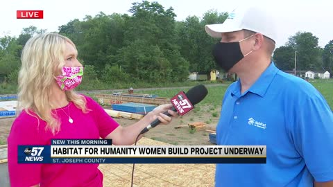 Habitat for Humanity Women Build project underway