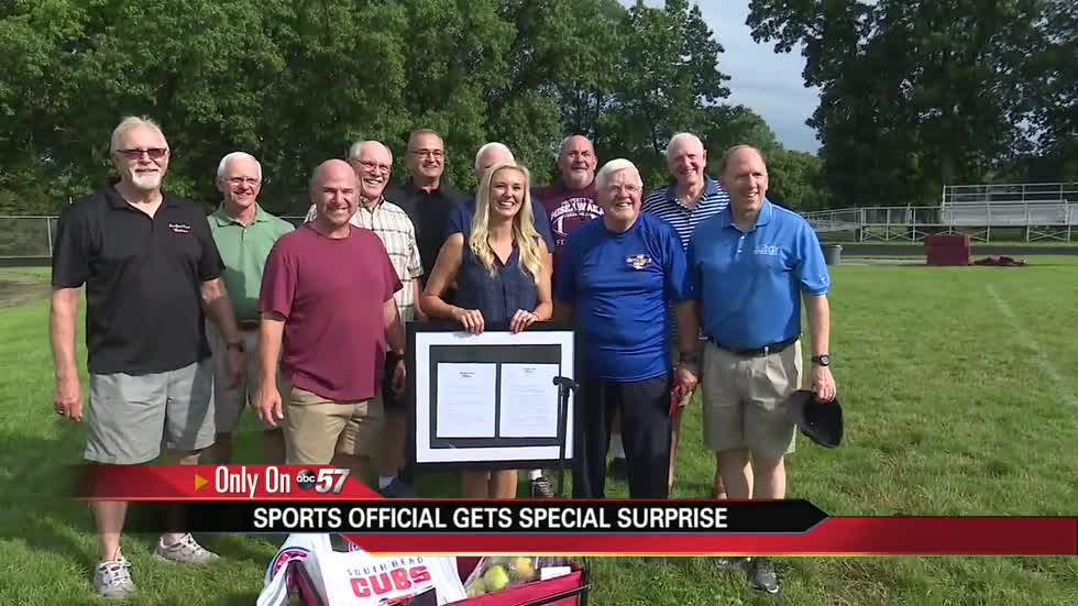 Hall of Fame official surprised with 'One Good Deed Michiana' Award