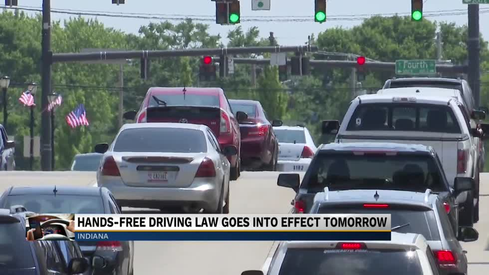 Holding your phone while driving is illegal starting Wednesday in Indiana