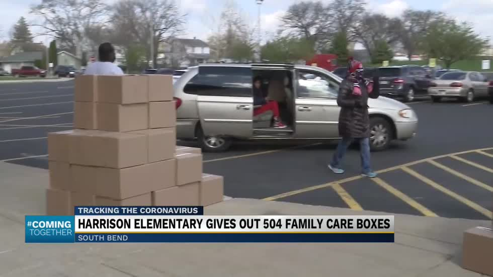 Harrison Elementary School gives out hundreds of care packages