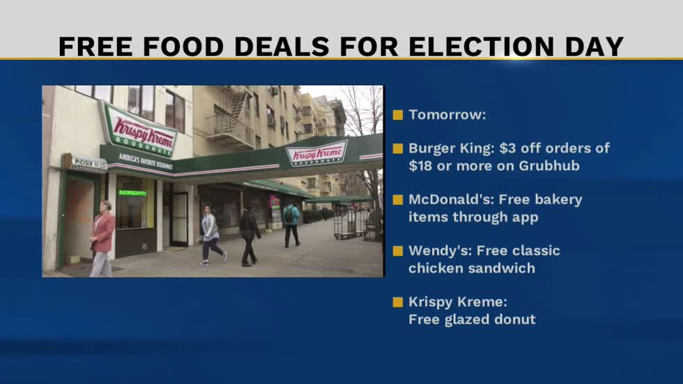 Here's where to get free food on Election Day