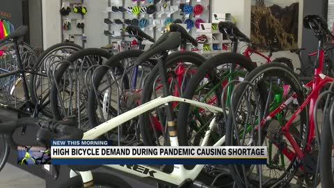 High bicycle demand during pandemic causing shortage