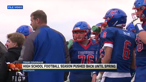 High school football season pushed back until spring