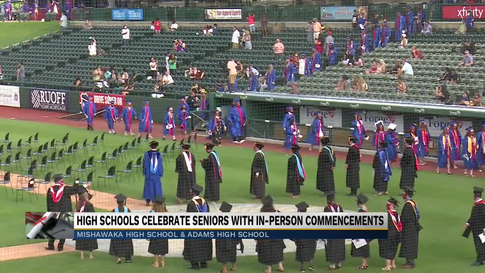 High schools celebrate seniors with in-person commencements