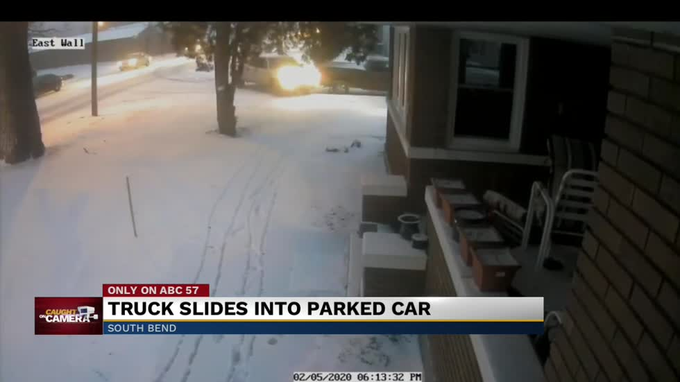 Hit and run caught on home security footage in South Bend