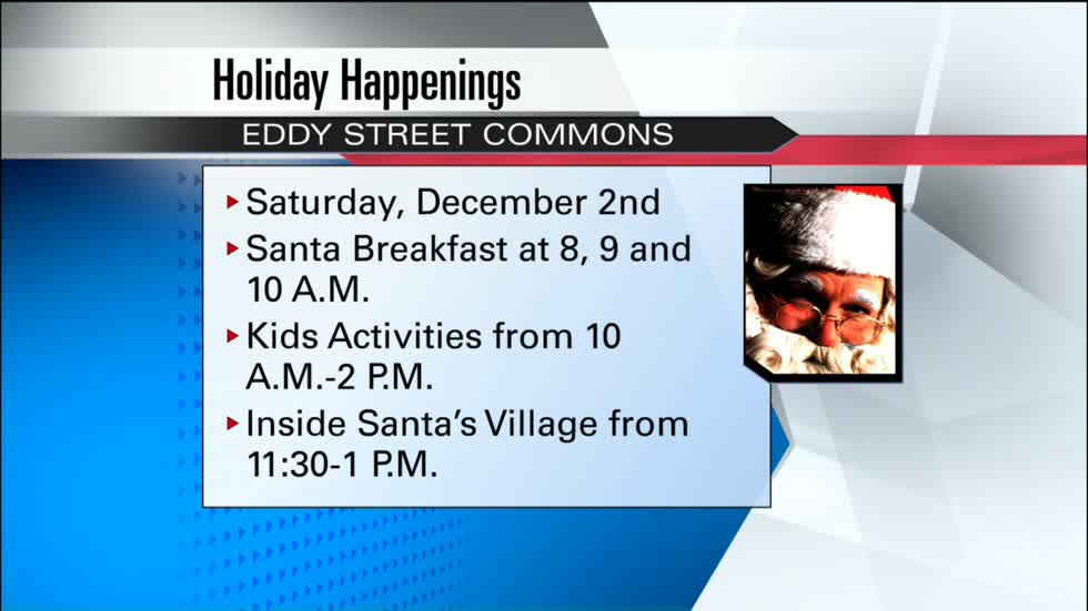 """Holiday Happenings"" is back at Eddy Street Commons this weekend"