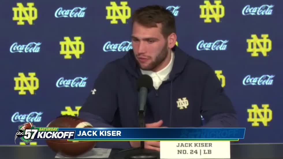 Hoosier native Jack Kiser living out his dream at Notre Dame