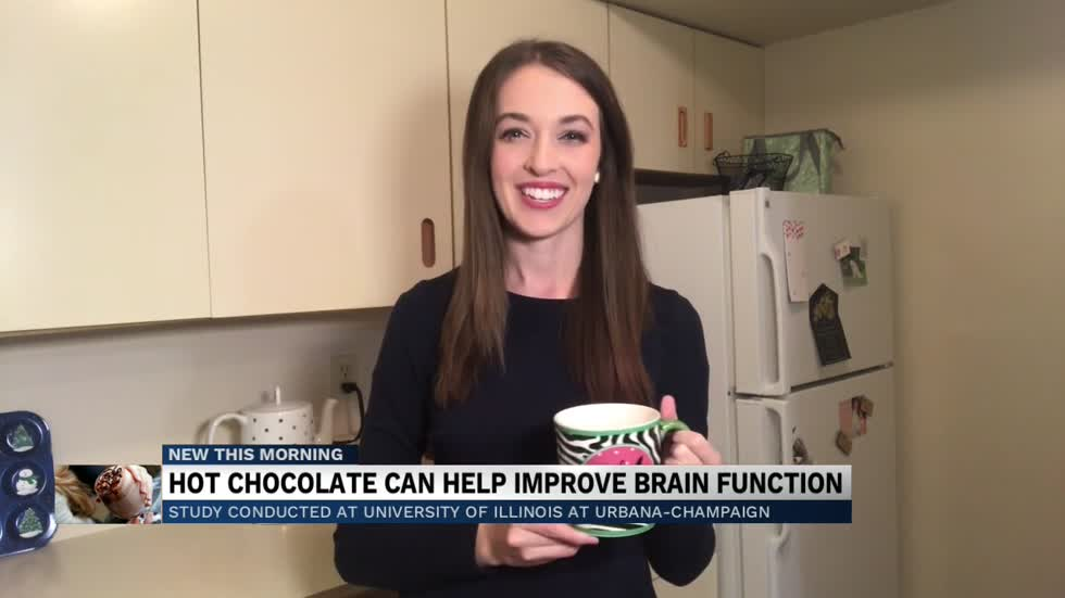 Drinking hot chocolate can improve your brain function