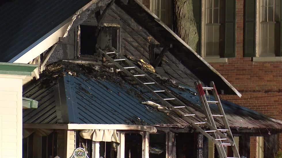 House fire in Michigan kills woman and child