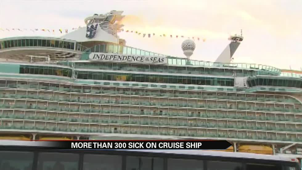 Hundreds come down with stomach virus during Royal Caribbean cruise