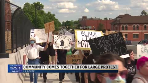 Three groups meet in La Porte for peaceful demonstrations