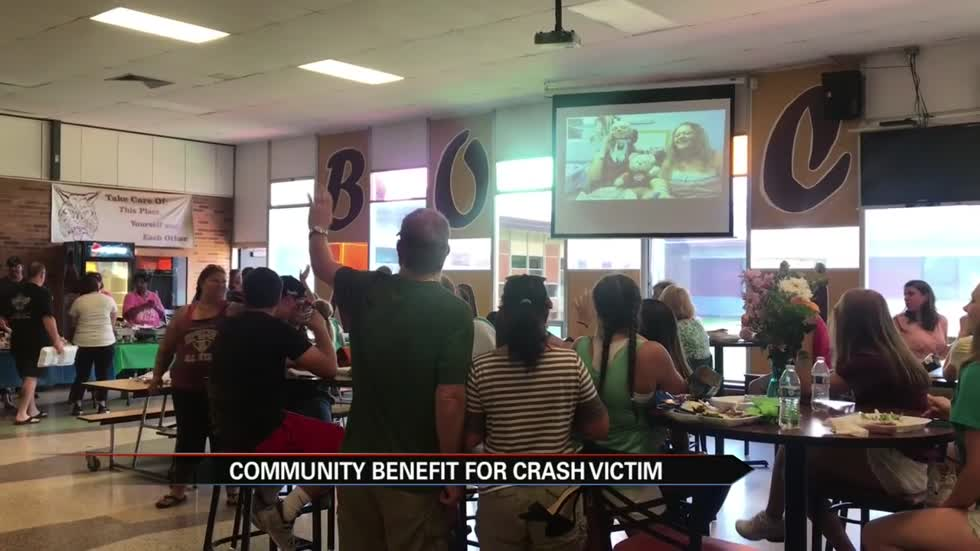 Hundreds show at benefit for teen paralyzed in motorcycle crash