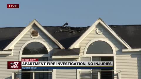 Crews investigating fire at South Bend apartment complex
