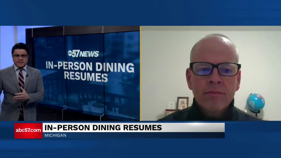 In-person dining resumes Monday in Michigan