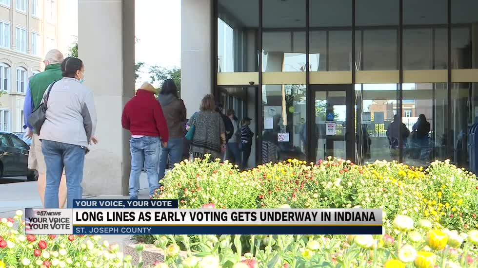 In-person early voting has begun across the state of Indiana