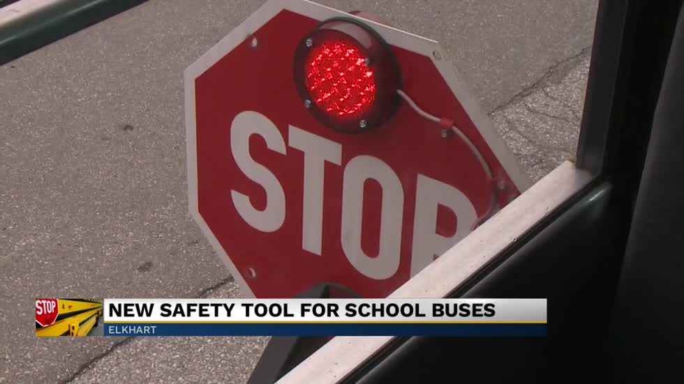 Indiana Congresswoman Jackie Walorski shows new safety tool for school buses