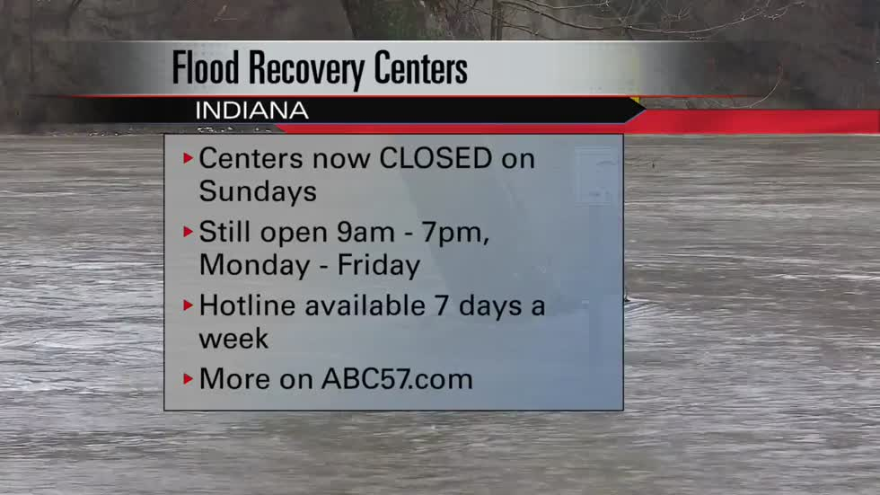 Indiana Disaster Recovery Centers closed on Sundays