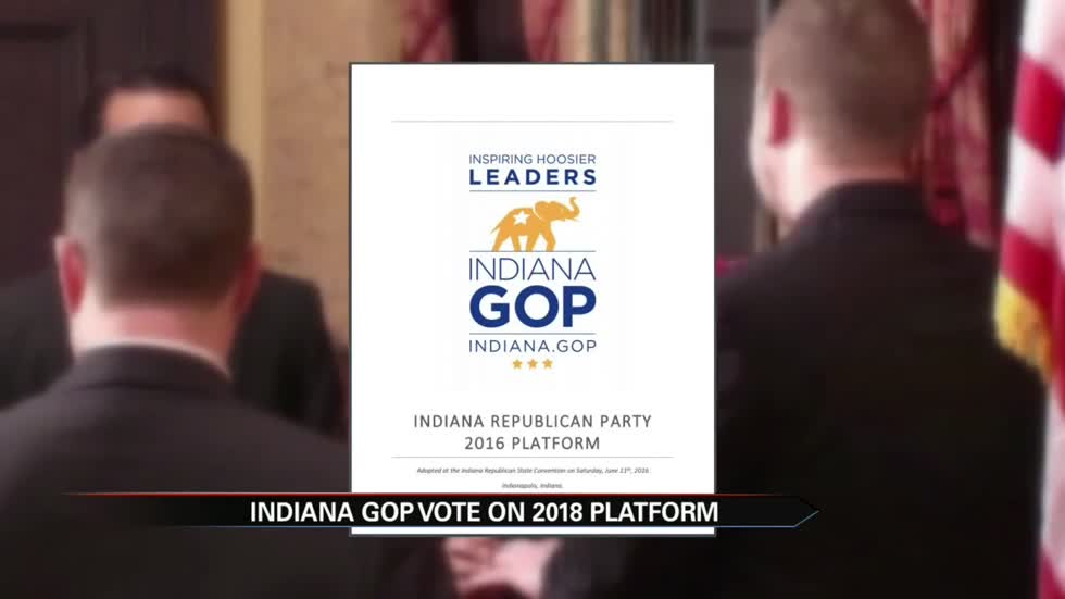 Indiana Republicans approve 2018 platform, includes controversial marriage language