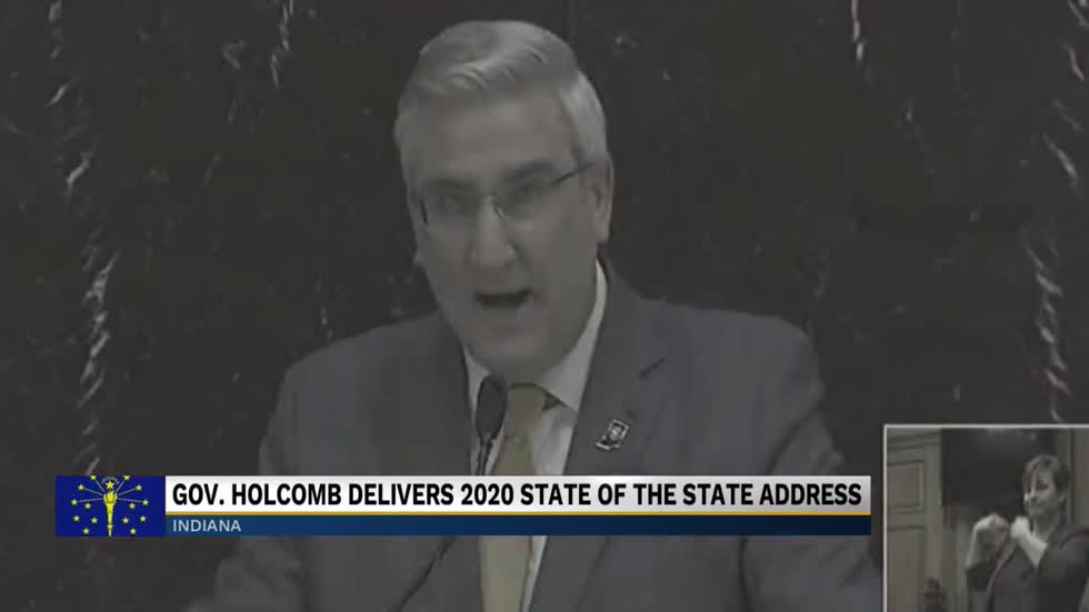Indiana Governor Holcomb discusses teacher pay at State of the State address