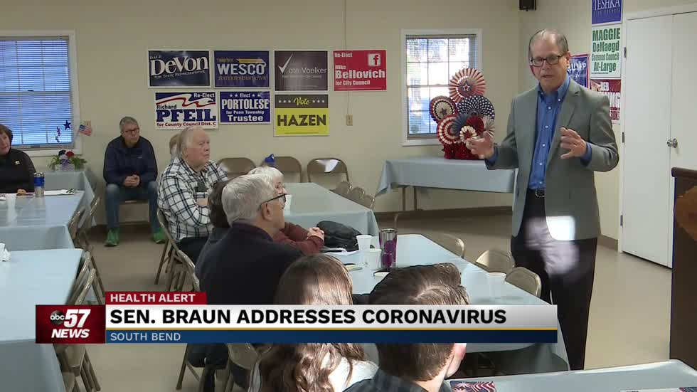 Indiana Senator Mike Braun holds meet and greet in South Bend