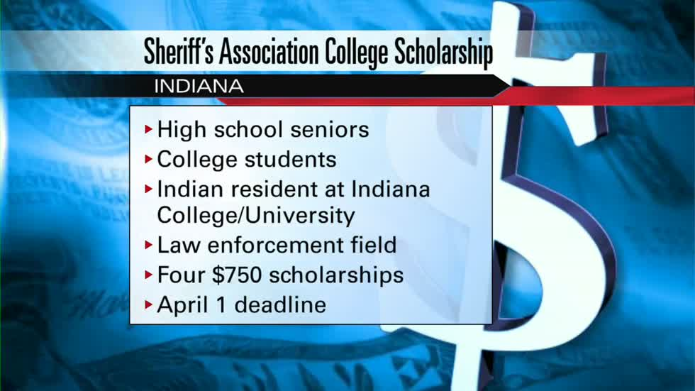 Indiana Sheriff's Association to award scholarships to students